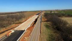 Highway Bridge under construction 1 - stock footage