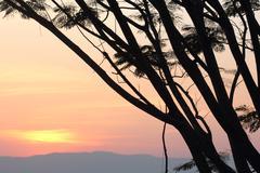 Sunset at pha keb tawan (Thailand) Stock Photos