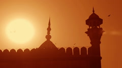 Delhi's Jama Masjid mosque Stock Footage