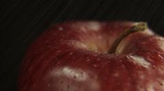 Water on apple Stock Footage