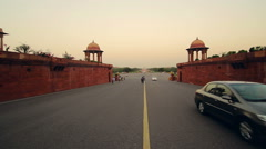 Delhi's Rajpath, connecting the Rashtrapati Bhavan to the National Stadium Stock Footage