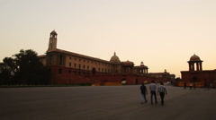 Delhi's Rajpath, connecting the Rashtrapati Bhavan to the National Stadium Stock Footage