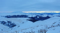 Timelapse sunset in the mountains, Northern Caucasus, Russia. FULL HD Stock Footage