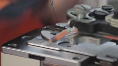 Button Sewing Machine - stock footage
