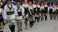 Bulgarian folklore dance - stock footage