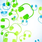 abstract background: headphones - stock illustration