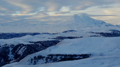 Timelapse sunrise in the mountains Elbrus, Northern Caucasus, Russia. FULL HD Stock Footage