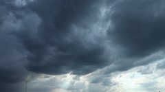 Timelapse storm clouds Stock Footage