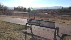 Park Bench with Awesome View Stock Footage
