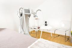 Body shaping clinic with advanced equipment Stock Photos