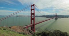 San Francisco Golden Gate Bridge Stock Footage