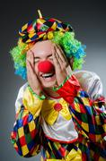 Stock Photo of Funny clown in humor concept