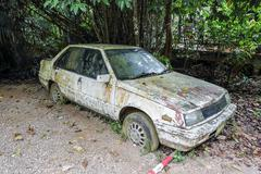 Old rusted car Stock Photos