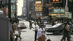 Stock Video Footage of Chicago 1973: downtown traffic