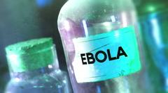 Ebola bottle disease 2 Stock Footage