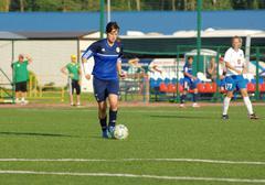 Piroghnyuk Elena (5) in action - stock photo