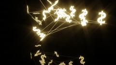 dollars abstraction - stock footage