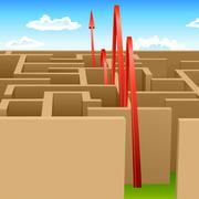 Stock Illustration of pass maze