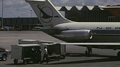 USA 1973: North Central aircraft parked Stock Footage