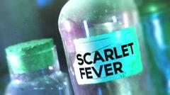 Stock Video Footage of scarlet fever bottle disease 2