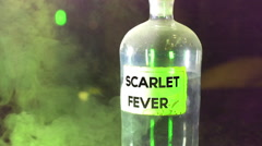 Stock Video Footage of scarlet fever bottle disease