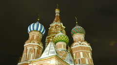 St Basil's Cathedral to the place of execution Stock Footage