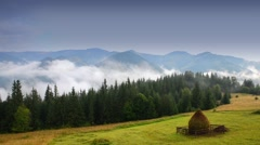Video alpine scenery, morning in the mountains Stock Footage