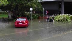 CAIRNS FLOOD FLOODING TYPHOON NATURAL DISASTER - stock footage