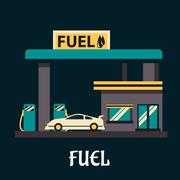 Car dressed with gasoline - stock illustration