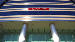 Establishing shot of Oracle Headquarters in Silicon Valley, California. Stock Footage