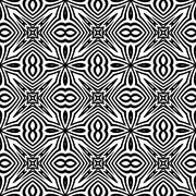Seamless geometric ornament in a black - white colors - stock illustration