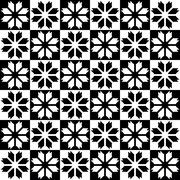 Black - white seamless pattern Stock Illustration