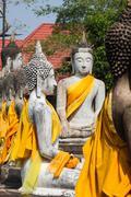 Buddha Statues Ayutthaya Thailand - stock photo