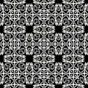 Decorative seamless pattern in a black - white colors Stock Illustration