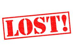 Stock Illustration of LOST!