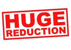 HUGE REDUCTION Stock Illustration
