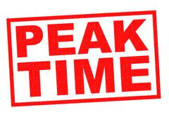 PEAK TIME - stock illustration