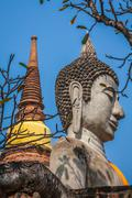 Buddha of statue in Ayutthaya Thailand Stock Photos