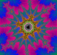 Decorative fractal background  - stock illustration