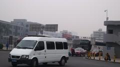 Shenzhen Baoan 107 National Road Traffic landscape Stock Footage