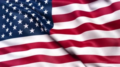 4K Flag of America seamless loop Ultra-HD Stock Footage
