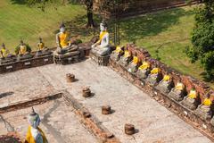 Buddha Statues Ayutthaya Thailand Stock Photos