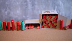 Hunting cartridges Stock Footage