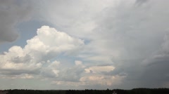 Timelapse clouds in storm Stock Footage