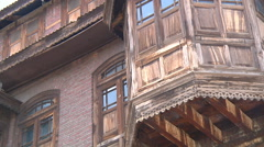 Houses at Srinagar in Jammu and Kashmir, India Stock Footage