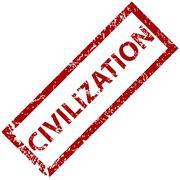Civilization rubber stamp - stock illustration