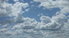 timelapse clouds in blue sky - stock footage