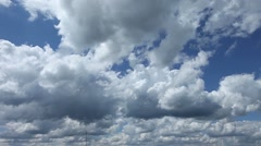 Timelapse clouds in blue sky Stock Footage
