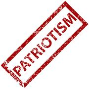 Patriotism rubber stamp Stock Illustration