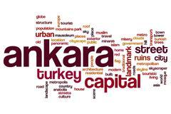 Stock Illustration of Ankara word cloud
